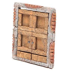 Front door for nativity in wood 15x13 s2