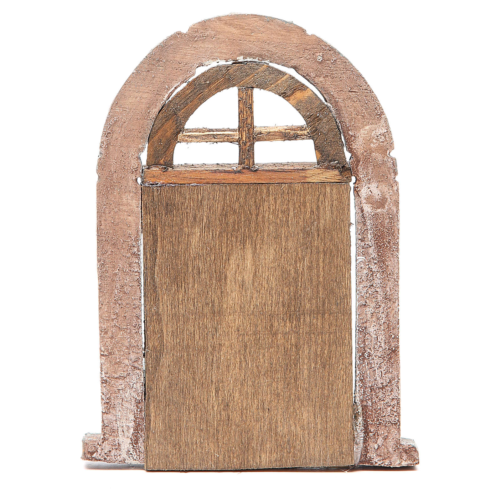 Door arched for nativity 18x12cm 4