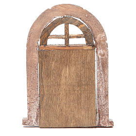 Door arched for nativity 18x12cm s3