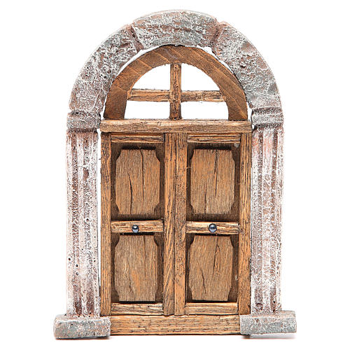 Door arched for nativity 18x12cm 1