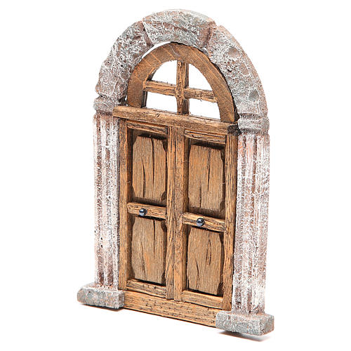 Door arched for nativity 18x12cm 2