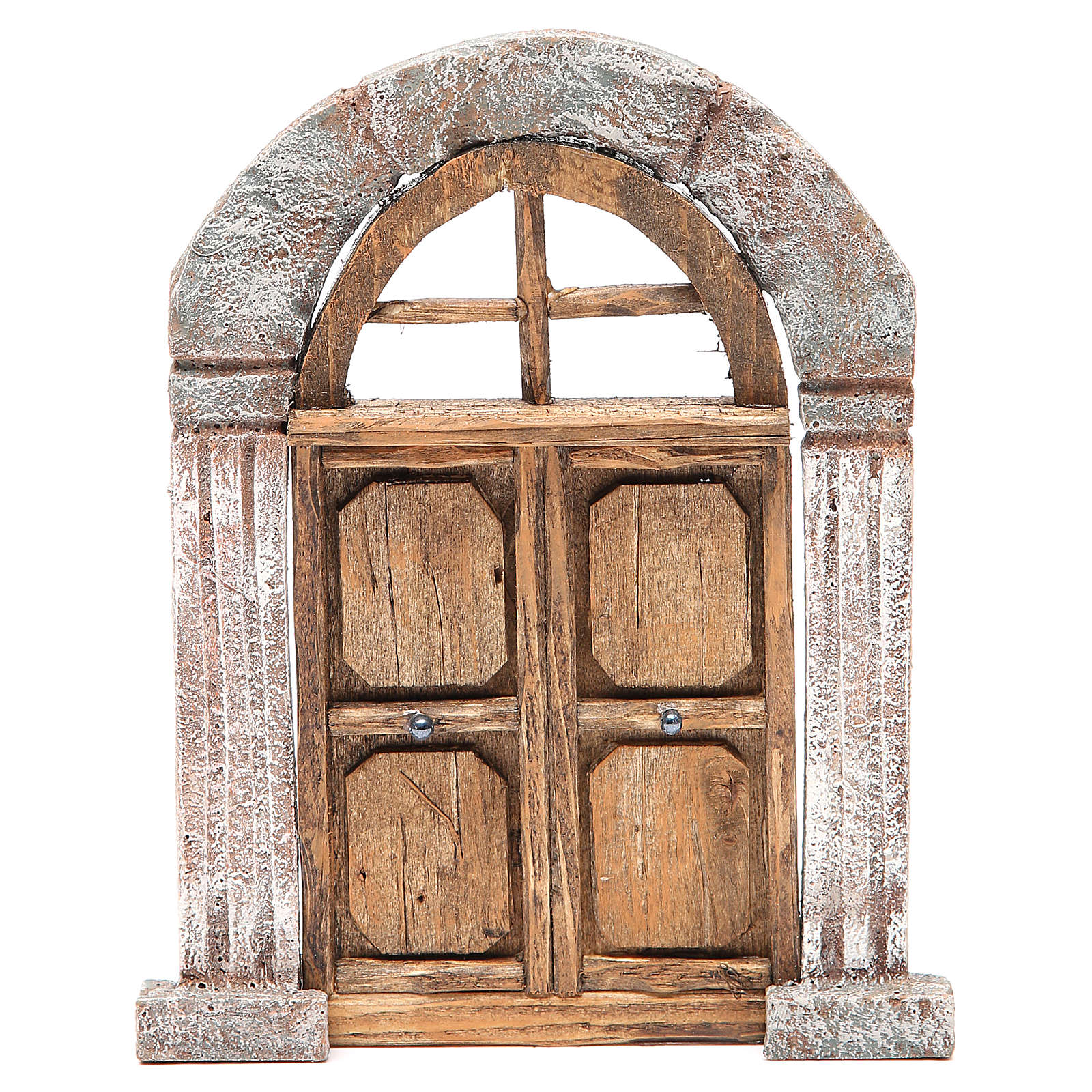 Porte arc et colonnes pour crèche 22x14 cm 4