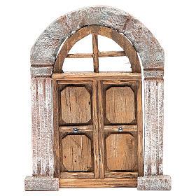 Porte arc et colonnes pour crèche 22x14 cm s1