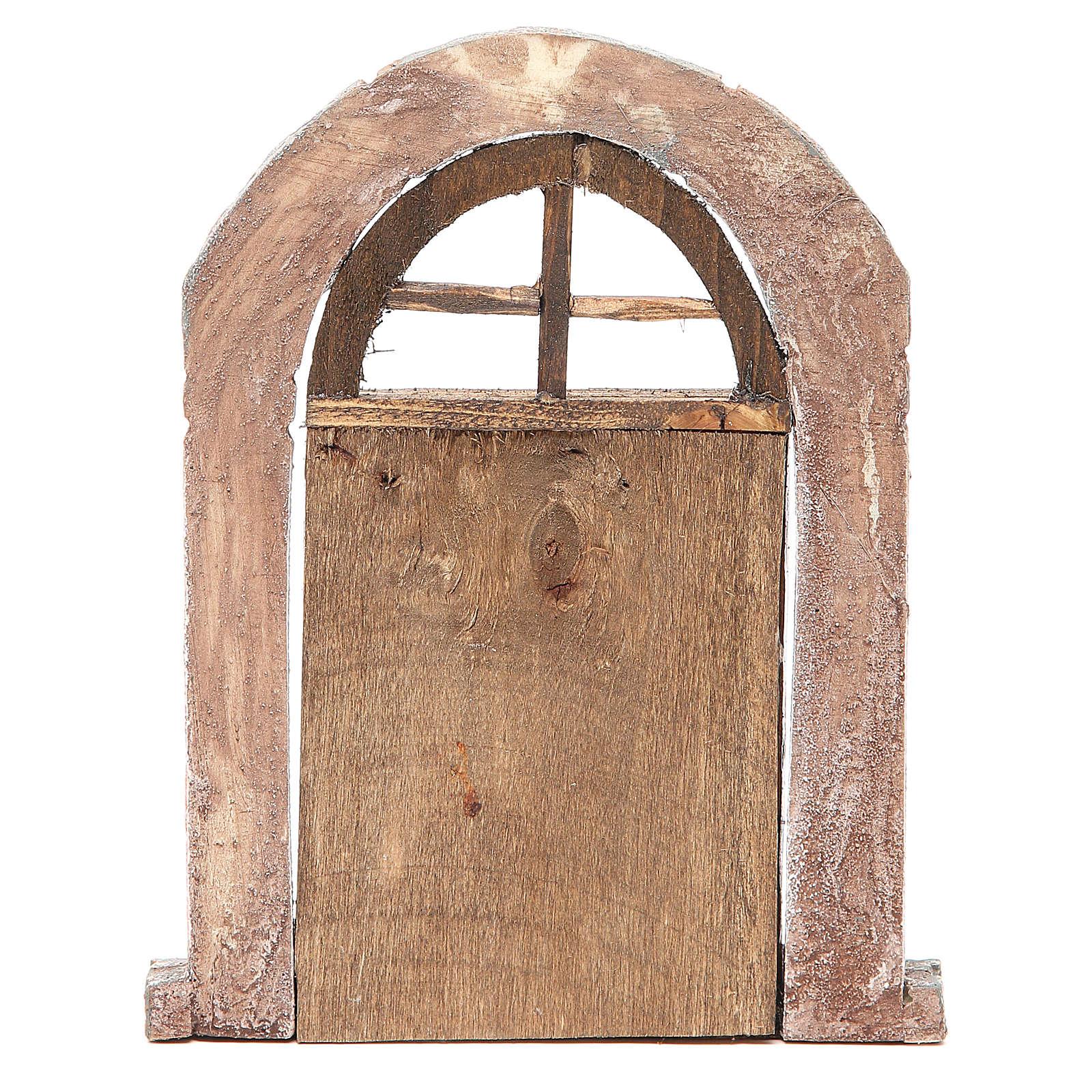 Porta arco e colonne per presepe 22X14 cm 4