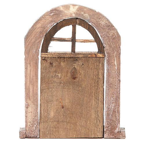 Porta arco e colonne per presepe 22X14 cm 3