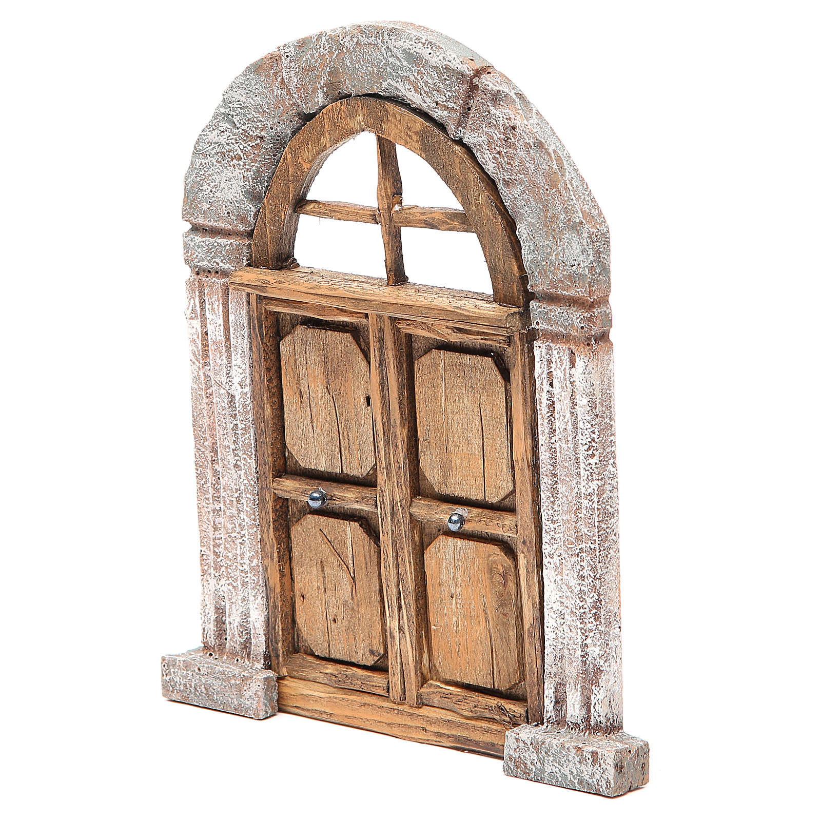 Arch door and columns for nativity 22x14cm 4