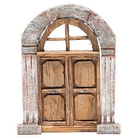 Arch door and columns for nativity 22x14cm s1