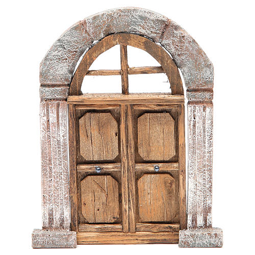 Arch door and columns for nativity 22x14cm 1