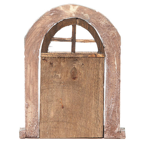 Arch door and columns for nativity 22x14cm 3