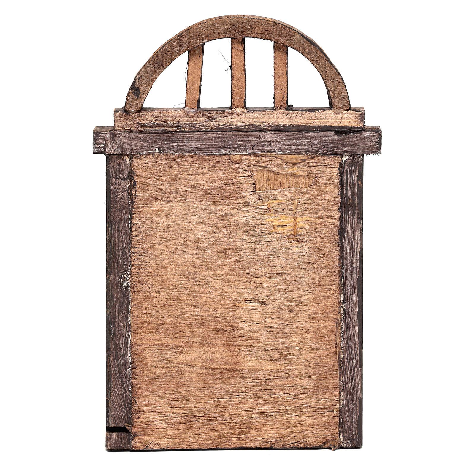 Portón de arco para belén 22x14 cm 4