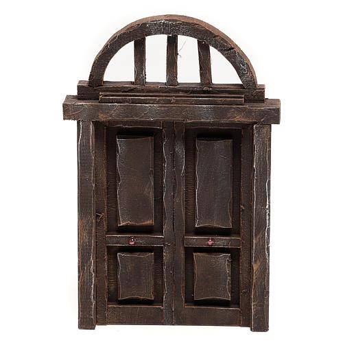 Portón de arco para belén 22x14 cm 1