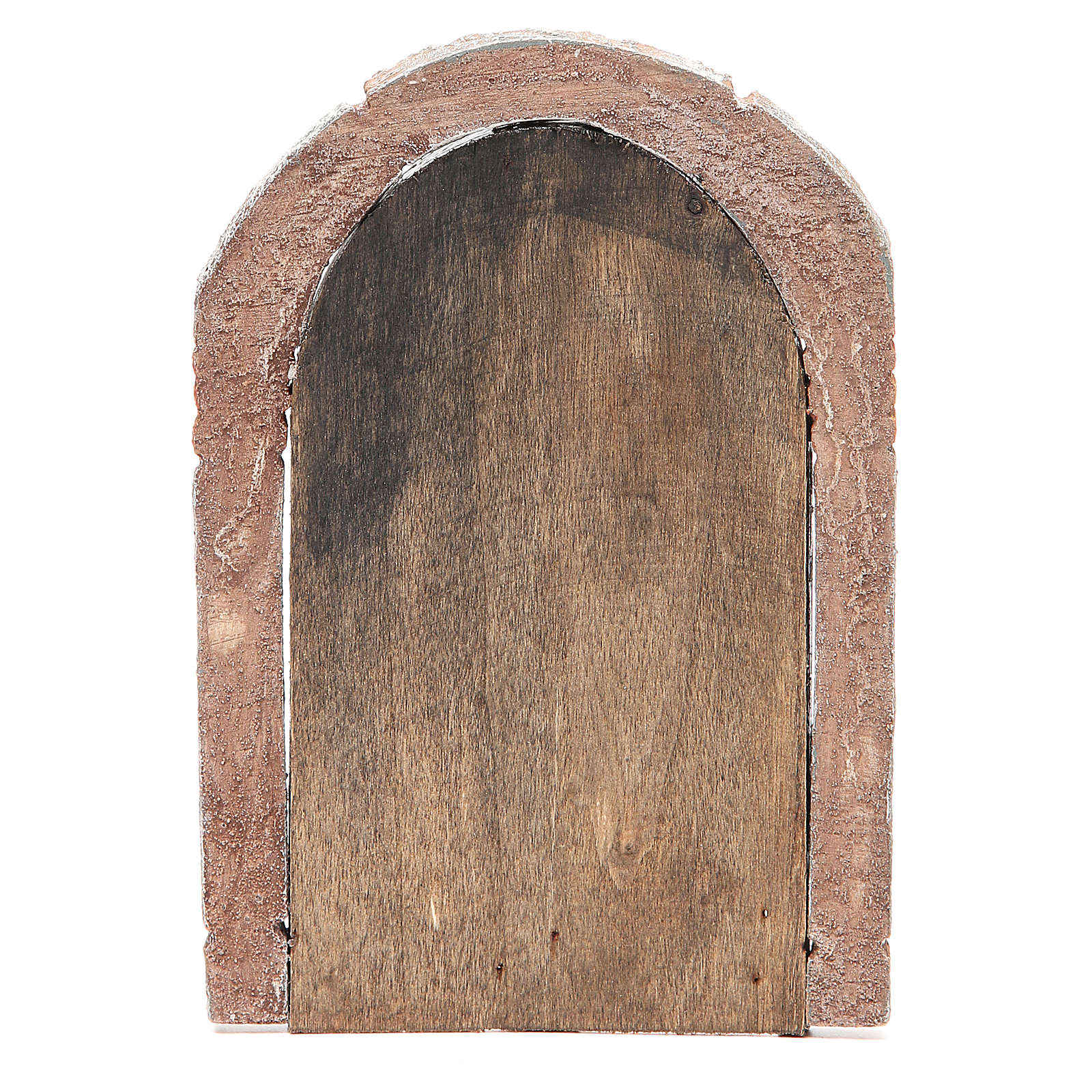 Front Door arched in wood for nativity 22x14cm 4
