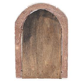 Portone ad arco in legno per presepe 22X14 cm s3