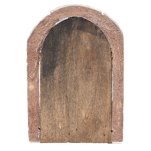 Front Door arched in wood for nativity 22x14cm 3