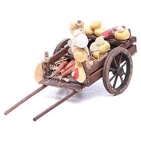 Carretto frutta 9x15x6 cm presepe napoletano s1
