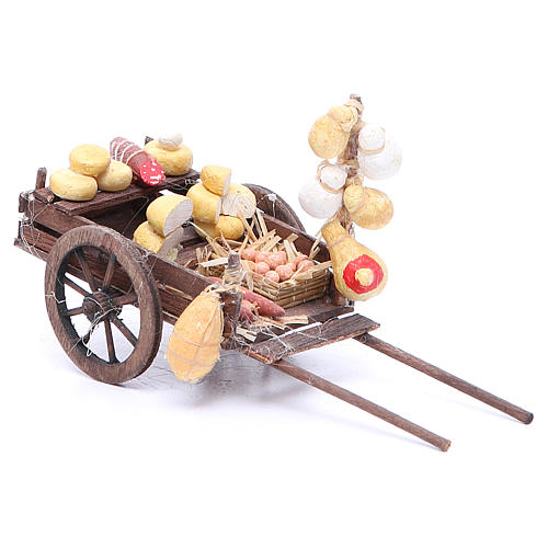 Carretto frutta 9x15x6 cm presepe napoletano 2