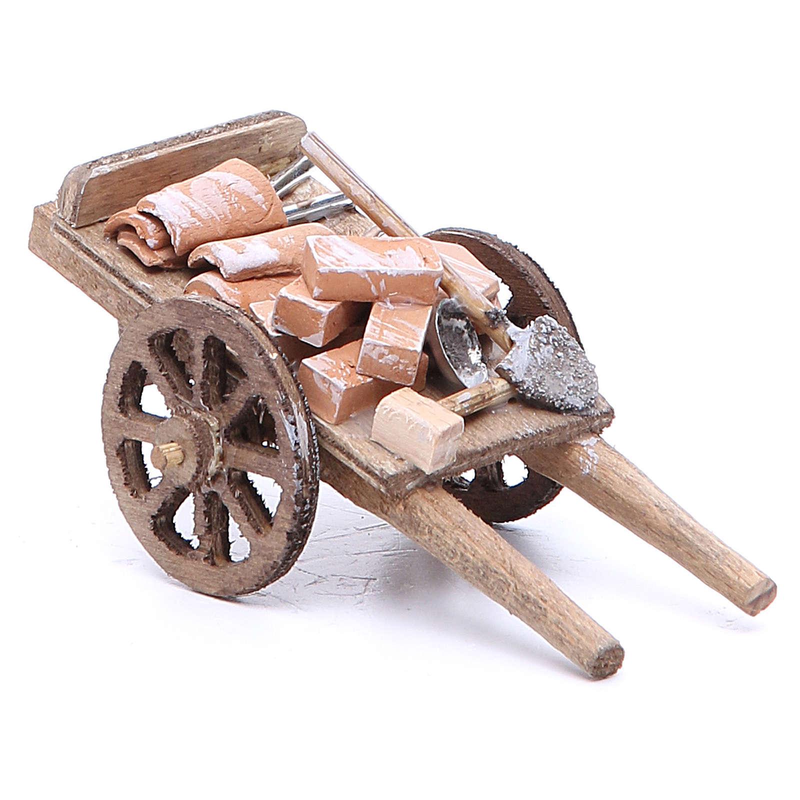 Cart of the builder for Neapolitan Nativity, measuring 6x11x5cm 4