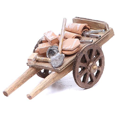 Cart of the builder for Neapolitan Nativity, measuring 6x11x5cm 1