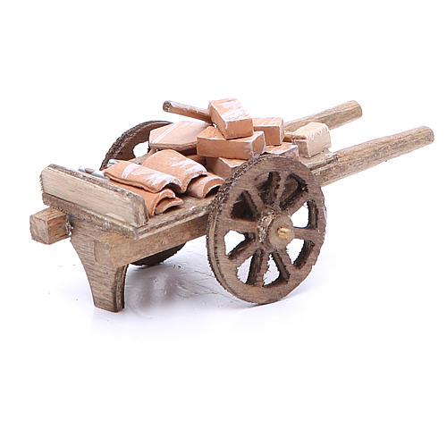 Cart of the builder for Neapolitan Nativity, measuring 6x11x5cm 3