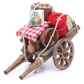 Cart of the evicted for Neapolitan Nativity, measuring 9x12x7cm s1