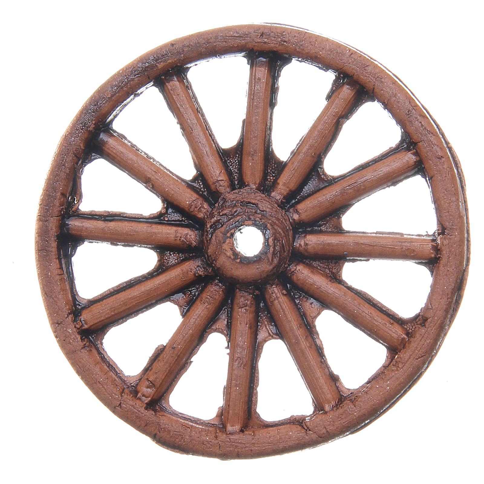 Wheel in terracotta measuring 4cm for Neapolitan Nativity 4