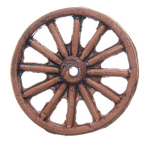 Wheel in terracotta measuring 4cm for Neapolitan Nativity s1