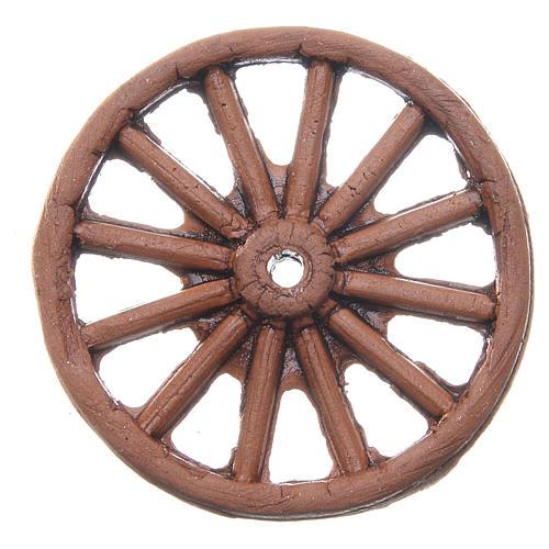 Wheel in terracotta measuring 4cm for Neapolitan Nativity 2