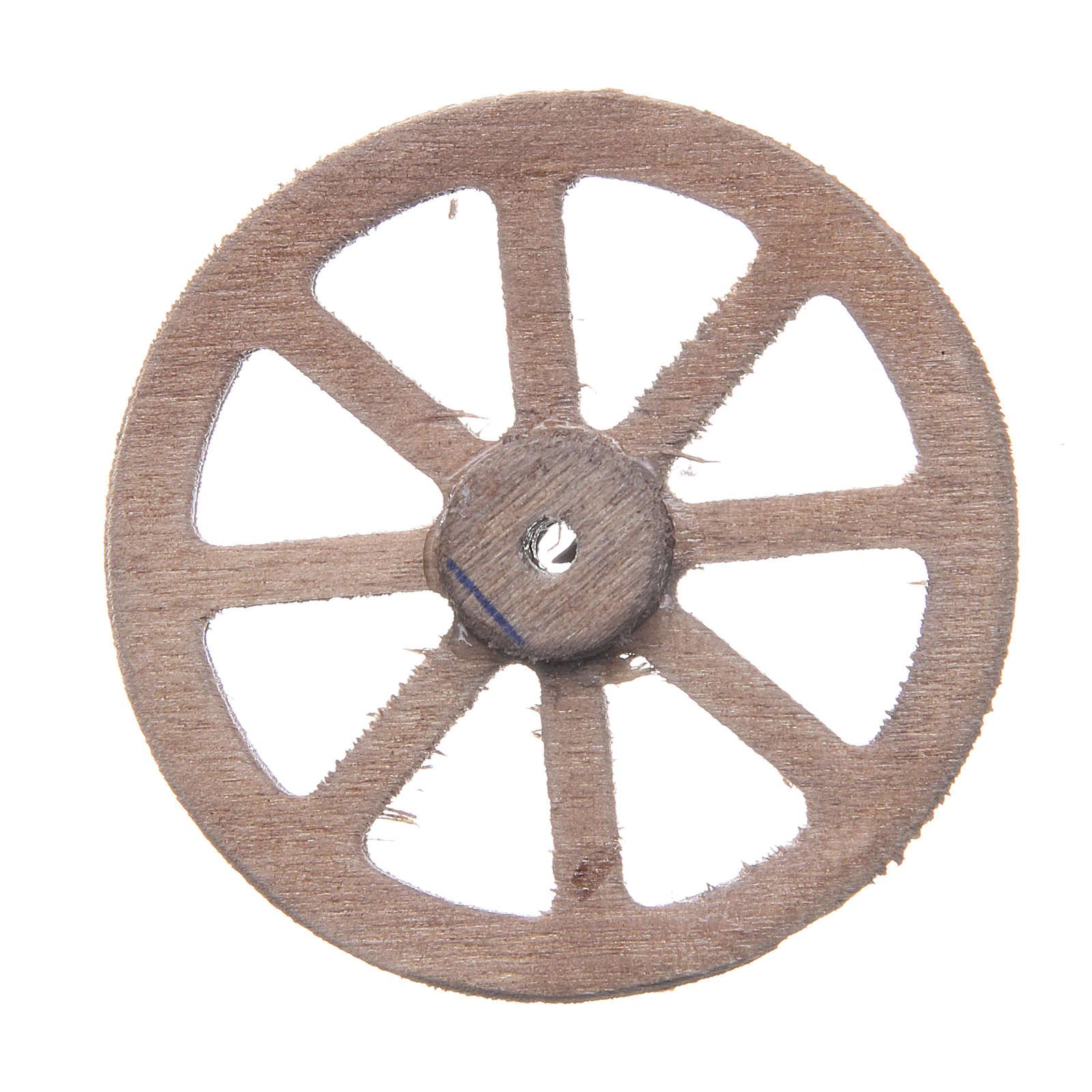 Ruota legno cm 5 presepe napoletano 4