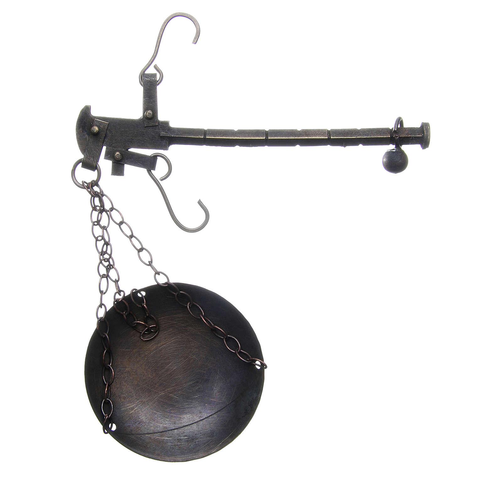 Balanza en metal diam 6 cm belén Nápoles 4