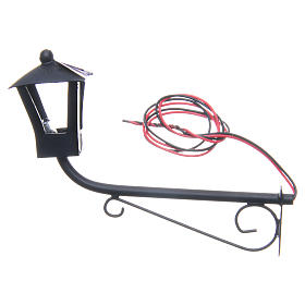 English style wall lamp curved upwards, 8x9cm for nativities s2