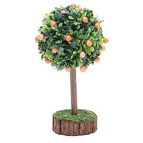Orange tree for nativity scene in wood and resin s2