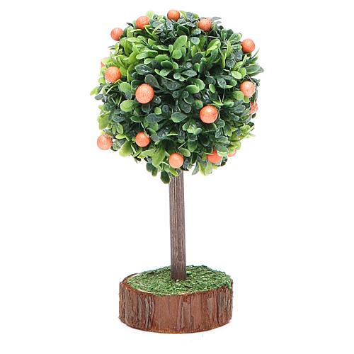 Orange tree for nativity scene in wood and resin 1