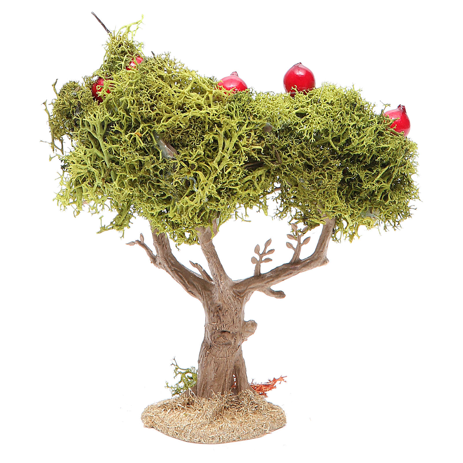 Apple tree for nativity scene in resin and lichens 4