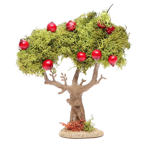 Apple tree for nativity scene in resin and lichens 1