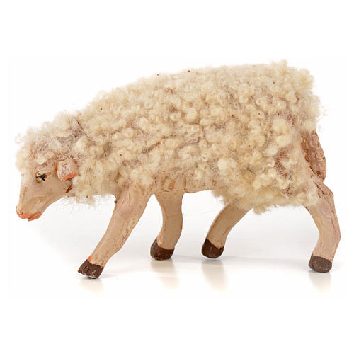 Neapolitan Nativity scene figurine, kit, 3 sheep with wool 14 cm 3