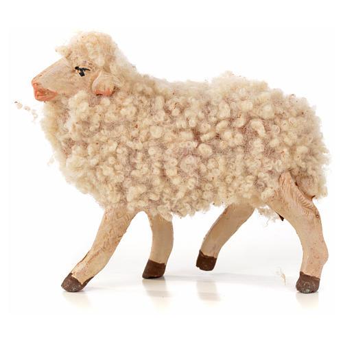 Lot 3 brebis avec laine crèche Napolitaine 14cm 2