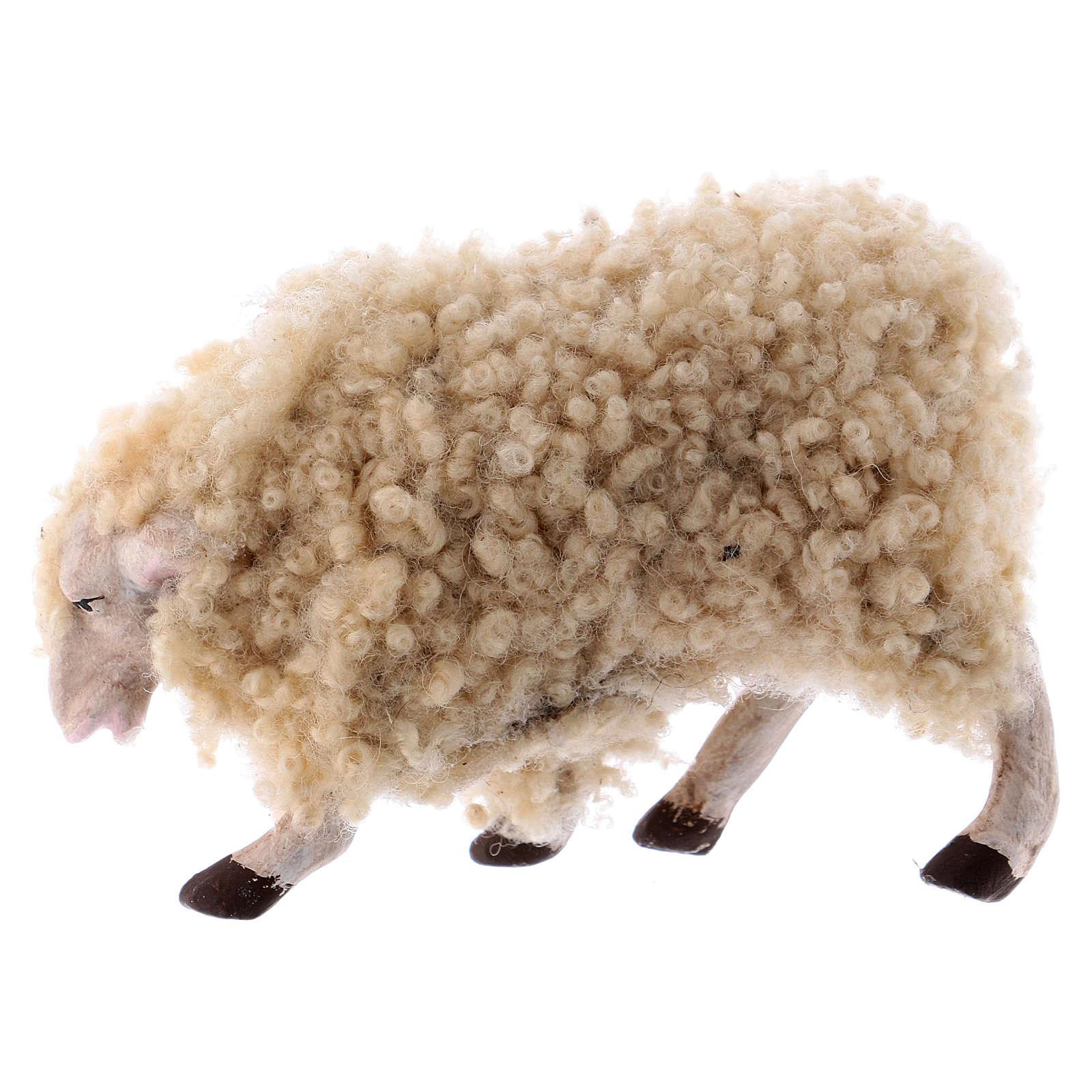 Kit 3 pecore con lana 18 cm presepe napoletano 4