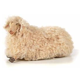 Neapolitan Nativity scene figurine, kit, 3 sheep with wool 18 cm s4