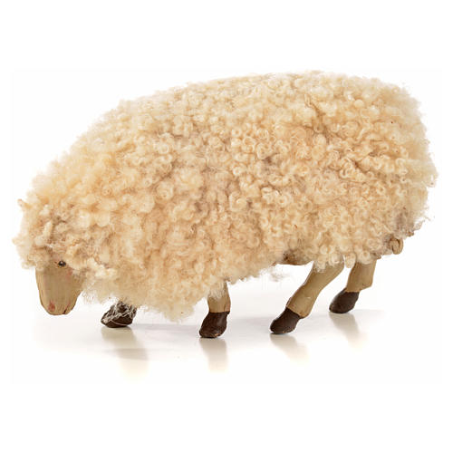 Neapolitan Nativity scene figurine, kit, 3 sheep with wool 18 cm 3