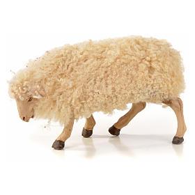 Kit 3 pecore con lana per presepe napoletano con pastori di 22 cm s3