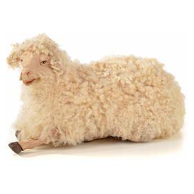 Kit 3 pecore con lana per presepe napoletano con pastori di 22 cm s4