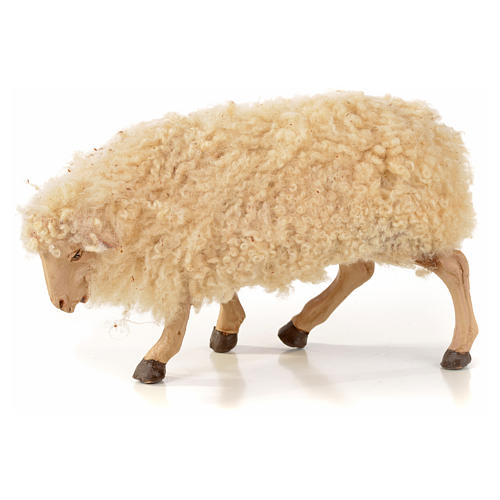 Kit 3 pecore con lana per presepe napoletano con pastori di 22 cm 3