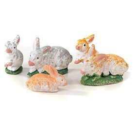 Neapolitan Nativity scene figurine, kit with rabbits, 7 pieces 8 s3