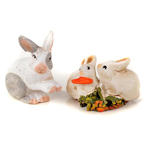 Neapolitan Nativity scene figurine, kit with rabbits, 7 pieces 8 2