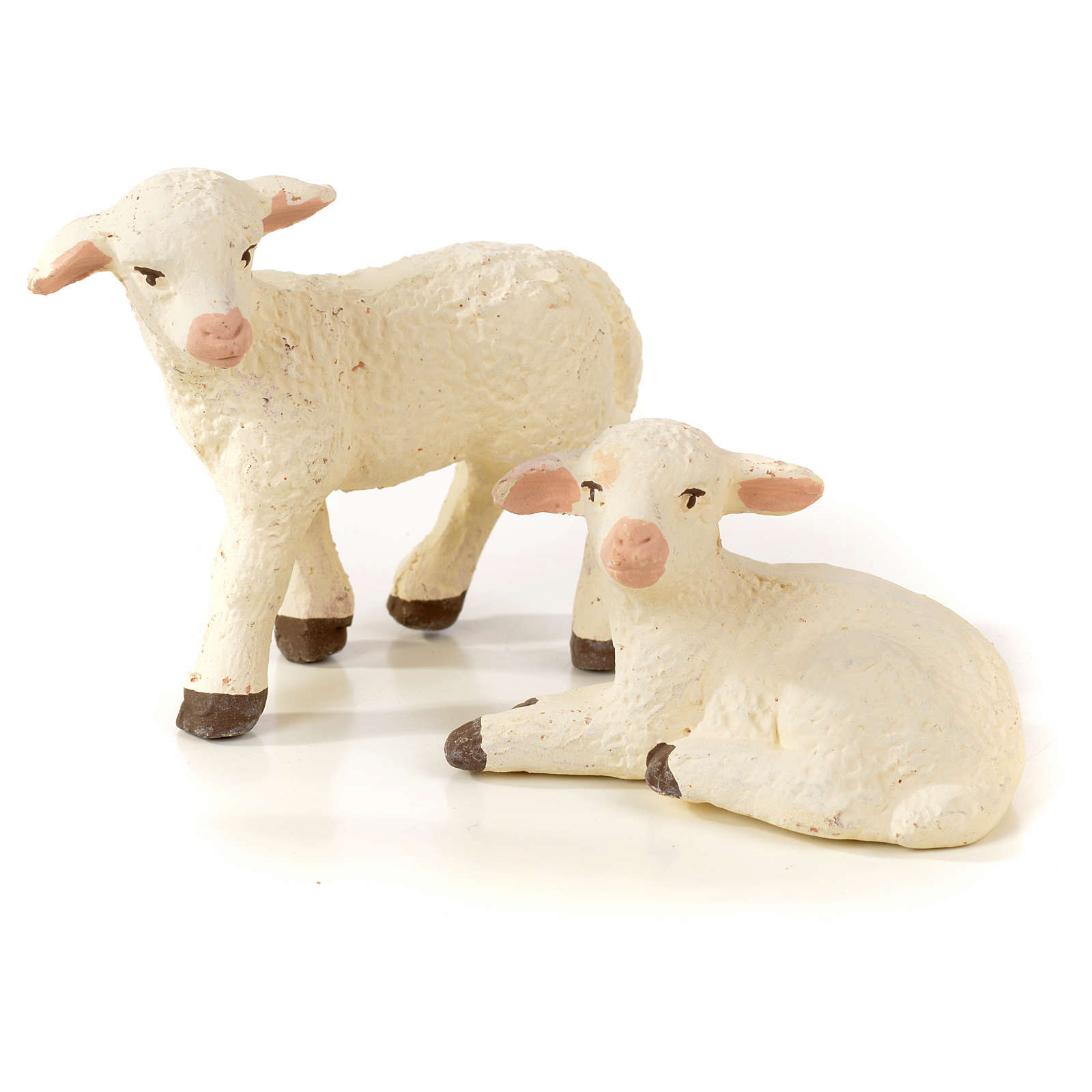 Cane oie 2 agneaux crèche Napolitaine 10-12 cm 4