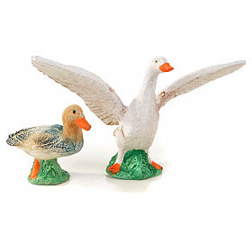 Neapolitan Nativity scene figurine, duck, goose and 2 lambs 10cm s2