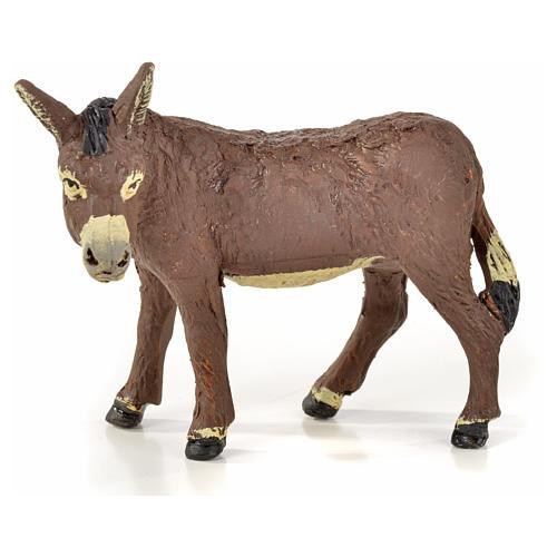 Neapolitan Nativity scene figurine, horse, donkey and buffalo 10 5