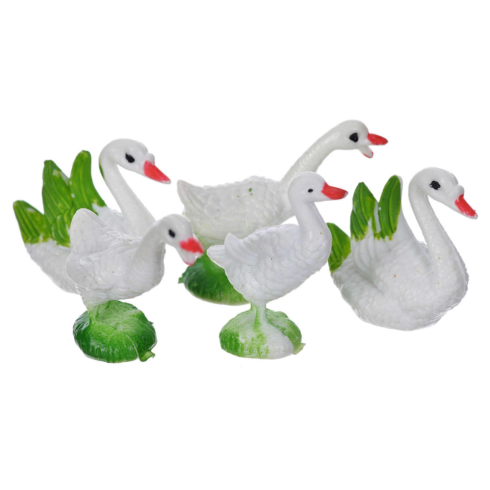 Nativity figurine, geese 5pcs 3