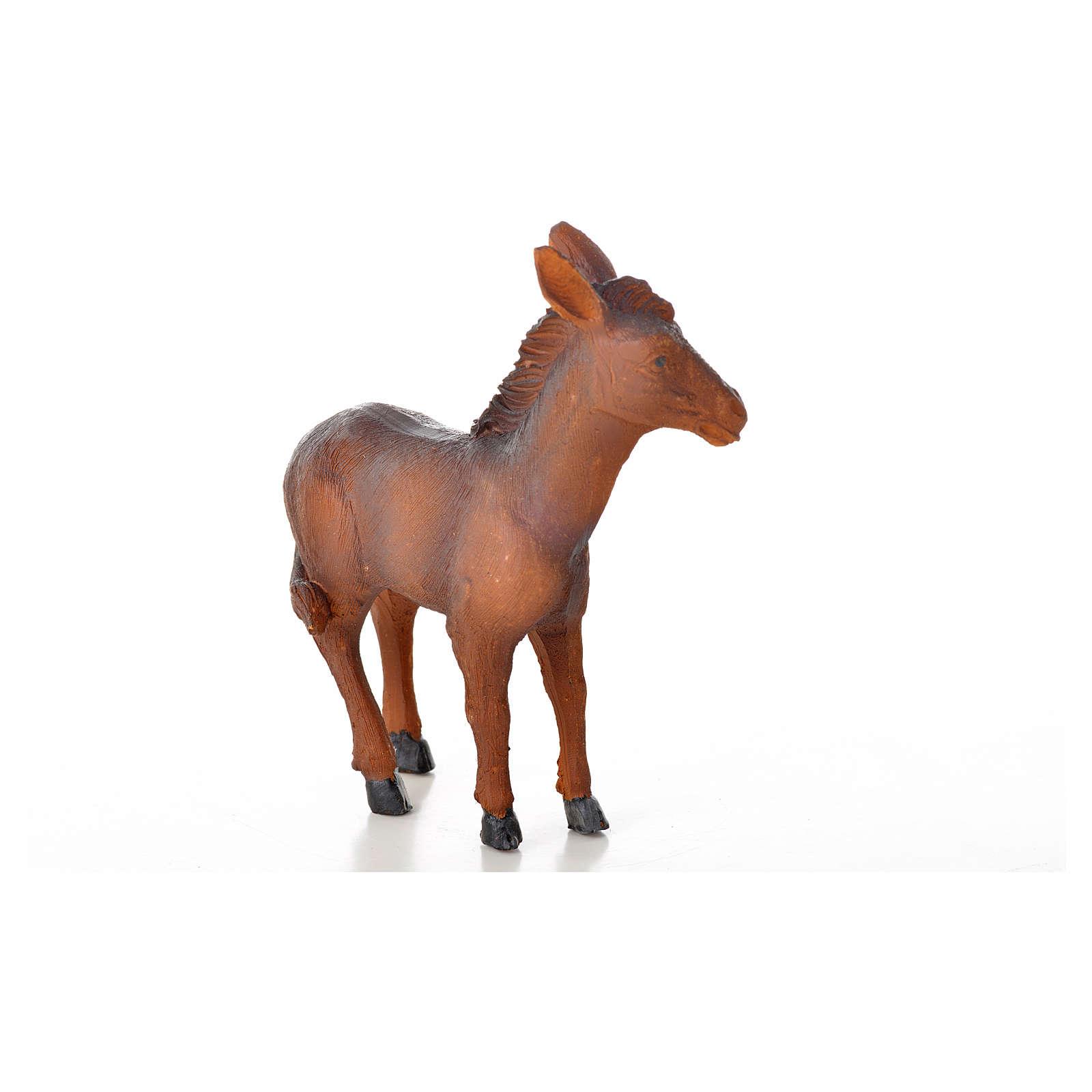 Nativity figurine, donkey in resin 8,7x3,5x10 cm 3