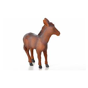 Nativity figurine, donkey in resin 8,7x3,5x10 cm s2